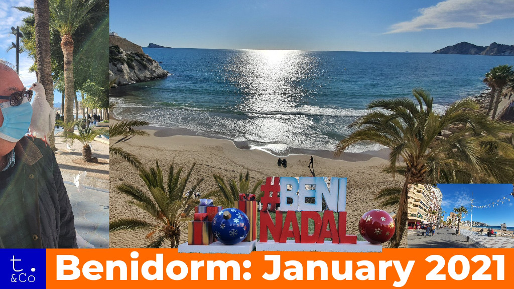 The team visited Benidorm just after New Year